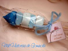 Brochetas chuches / gominolas / azul / bautizo / boda / comunion