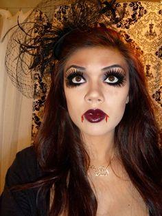 Vampire Doll makeup tutorial, halloween looks, halloween makeup