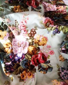 Vintage English  floral fabric