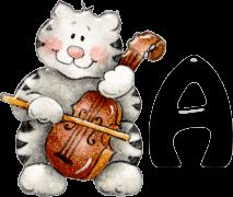 Alfabeto de gatitos músicos.