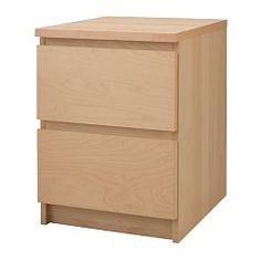 Malm Chest With 2 Drawers, Black-brown