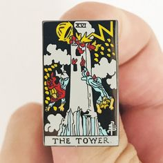 """1.25"""" hard enamel pins. Comes individually packaged with deluxe clasp."""