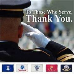 Thank you for your service and keeping America free!