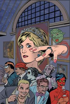 A new Marvel comic book, casts the late Princess Diana as a super-heroin. In it, a mutant Diana's comeback is threatened by a nasty crew of mutant Eurotrash . Marvel Comic Books, Comic Books Art, Marvel Comics, Comic Book Artists, Comic Artist, Mike Allred, Savage Dragon, Comic Page, Dark Horse