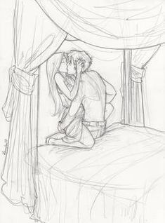 Sam cortland and celaena sardothein in the assasin and empire on we heart it. tammy mccarthy · sketches of couples Cute Couple Drawings, Cute Couple Art, Love Drawings, Cartoon Drawings, Cute Sketches Of Couples, Couple Kiss Drawing, Hipster Drawings, Drawing Faces, Easy Drawings