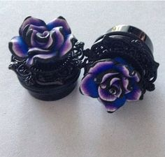 PICK SIZE Blue Tide Rose Plugs Girly Plugs por Lovekillsboutique