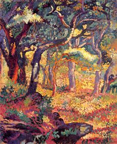 The Clearing (1906) by Henri-Edmond Cross, a French Neo-Impressionist painter.