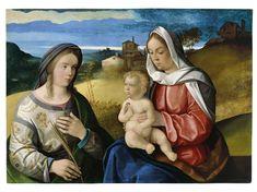 The Virgin and Child with Saint Agnes in a Landscape - Pietro degli Ingannati   Museo Thyssen
