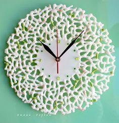 авторская работа, handmade, glass, стекло, цветное, фьюзинг, часы, ажур, переплетения, Лилия Горбач