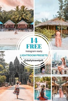 I am sharing all my travel presets for free, no costs. My pack includes 14 Instagram ready presets. Download and happy editing!