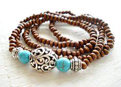 Yoga Bracelet  Yoga Jewellery  Hippie Jewellery by HandcraftedYoga, $26.00