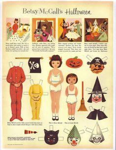 1953 october/ betsy mccall Halloween costumes. Slecht weer in de herfst, denk eens aan deze geweldige aankleedpoppen!