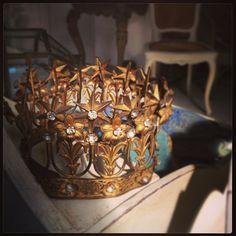French antique decorative tiaria