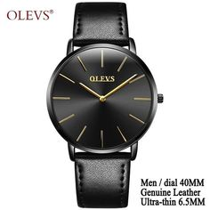 Ultra thin Men's Watches 2017 Top brand Luxury Genuine Leather Casual Quartz Waterproof Wrist Watch for Woman Relogio Masculino