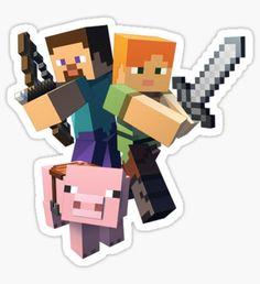 Minecraft Stickers - Minecraft World Minecraft Png, Minecraft Room, Minecraft Cake, Minecraft Crafts, Minecraft Clipart, Minecraft Birthday Card, Minecraft Party Decorations, Video Game Costumes, Birthday Clipart