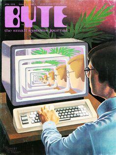 Computational magazine cover art for Byte: The Small Systems Journal has us nostalgic for a bygone retro-digital dreamworld