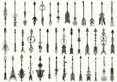 41 Hand drawn boho arrows by Bimbim on @creativemarket