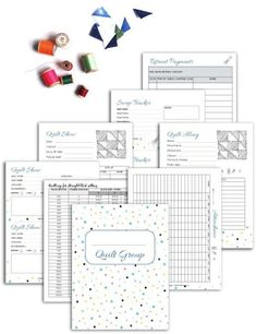 Free Printables for Organizing Quilt Groups -