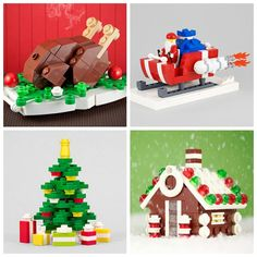 leggo Christmas decorations