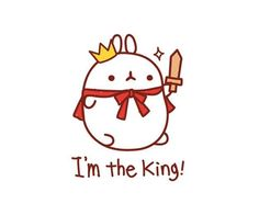 All hail King Molang Chibi Kawaii, Kawaii Doodles, Cute Chibi, Kawaii Cute, Kawaii Anime, Cute Animal Illustration, Kawaii Illustration, Kawaii Drawings, Cute Drawings