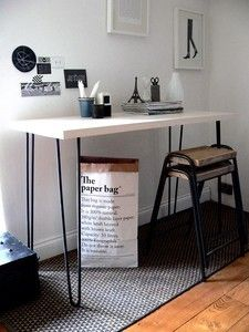 Image of HAIRPIN LEG CONSOLE TABLE