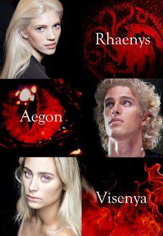 Aegon, Rhenys and Visenya ...