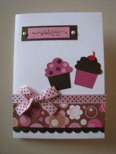 Cupcake Birthday Card Stampin Up Punch~!