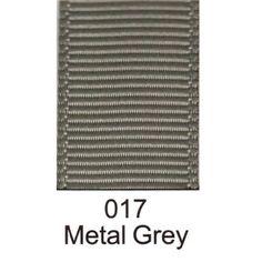 017 - Metal Grey Grosgrain Plain Ribbon