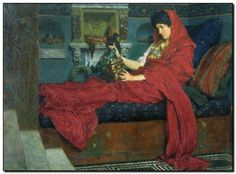 Schilderij Alma-Tadema, Agrippina with Ashes of Ge - mypainting
