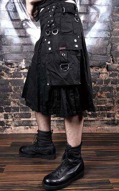 Tripp Cargo Utility Kilt - Black :: VampireFreaks Store :: Gothic Clothing, Cyber-goth, punk, metal, alternative, rave, freak fashions