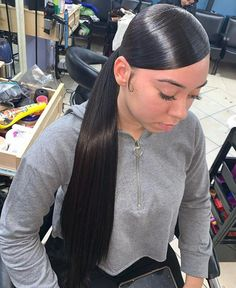 Long Ponytail Hairstyles, Ponytail Styles, Older Women Hairstyles, Weave Hairstyles, Straight Hairstyles, Curly Hair Styles, Hair Ponytail, Black Hairstyles, Low Ponytails