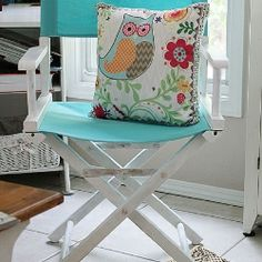 Director's Chair Repurpose-Shabby Chic Style