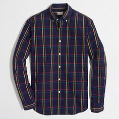 J.Crew Factory - Factory washed shirt in multiplaid