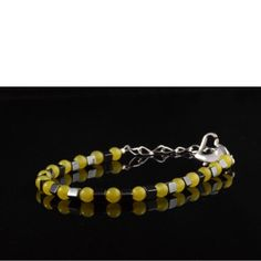 Lovely quartzite and hematite bracelet. Hematite Bracelet, Etsy Store, Beaded Bracelets, Jewelry, Design, Fashion, Jewlery, Moda, Jewels