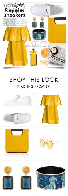 """""""Yellow!"""" by ornellag ❤ liked on Polyvore featuring Giuseppe Zanotti, Apiece Apart, Simon Miller, Julie Vos and Molton Brown"""