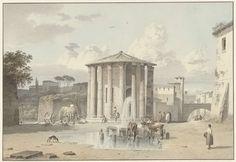 De tempel van Vesta in Rome, Josephus Augustus Knip, ca. 1809 - ca. 1812