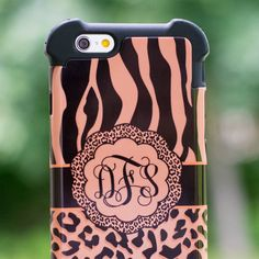 See what makes our Shock Proof Monogram Cases our selling case. Iphone 4 Cases, Iphone 6 Plus Case, Cell Phone Cases, Leopard Animal, Cheetah, Monogram Cases, Diy Craft Projects, Diy Crafts, Ring Ring