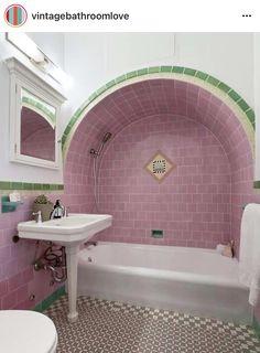 Retro Bathrooms, Enjoy Your Vacation, Hostel, Mexico City, Corner Bathtub, Man Cave, Mirror, Design, Home Decor