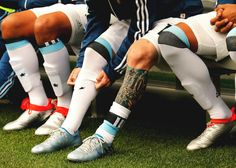 Detail of the tattoo and boots of Lionel Messi of Argentina during a group D match between Argentina and Bolivia at CenturyLink Field as part of Copa America Centenario US 2016 on June 2016 in. Football Socks, Soccer Socks, Lionel Messi, Messi Shoes, Copa America Centenario, Centurylink Field, Cute Guys, Pretty Boys, Athlete