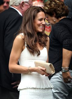 Catherine, Duchess of Cambridge attends the fourth round match between Tsvetana Pironkova of Bulgaria and Venus Williams of the United States on Day Seven of the Wimbledon Lawn Tennis Championships at the All England Lawn Tennis and Croquet Club on June 27, 2011 in London, England.