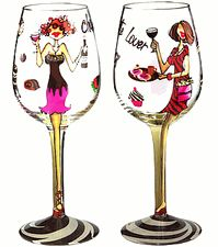 Love funky wine glasses vineyards the love of my life - Funky champagne flutes ...
