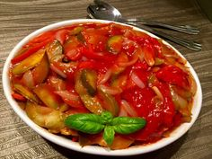 Ryba po japońsku - Blog z apetytem Ratatouille, Thai Red Curry, Food And Drink, Vegetarian, Lunch, Stuffed Peppers, Vegetables, Blog, Cooking