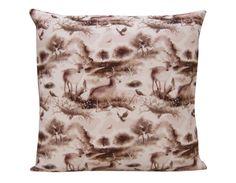 Richmond Park Design Cushion, cotton canvas made in Britain