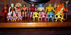 Blackstar figures (Galoob, 1983) from left: Klone (as Cloud Cat), Klone, Mara, Blackstar, Trobbits Poulo, Balkar and Carpo, The Overlord, Palace Guard, Neptul and Gargo with various demons.