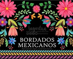Buy Now Mexican Watercolor Floral clipart PNG mexican party. Mexican Embroidery, Folk Embroidery, Learn Embroidery, Clipart, Bordado Popular, Mexican Flowers, Mexican Designs, Mexican Party, Mexican Folk Art