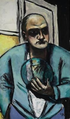 Max Beckmann - Self Portrait with a Crystal Ball (1922)