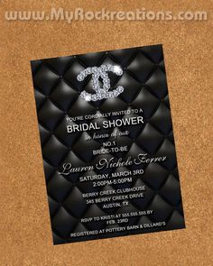 Invites Chanel Bridal Shower Wedding Party