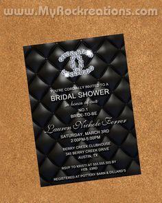 Chanel Bridal Shower InvitationDigital Printable by rockreations, $13.00