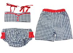 Brother Sister Boy Girl Twin Swimsuit Set Gidget & by LukeLulu