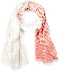 Sole Society Color block stripe scarf ($25) ❤ liked on Polyvore